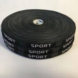 Этикетка жаккардовая вышитая Sport 10мм (100 метров)
