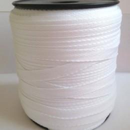 Тесьма лента  киперная 10мм №101 белый (250 м)