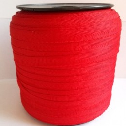 Тесьма лента  киперная 10мм №148 красный (250 м)