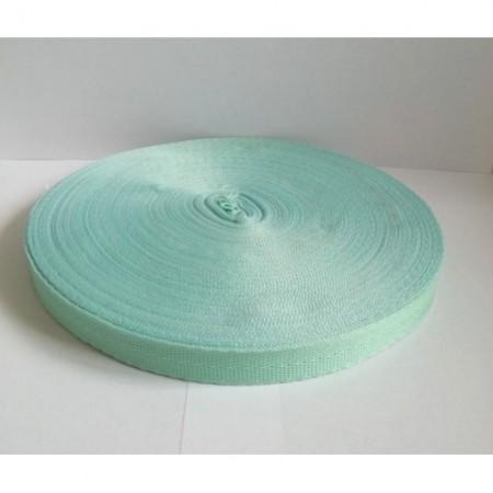 Тесьма лента  киперная 15мм №249 ментол (100 метров)