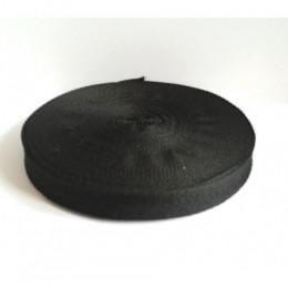 Тесьма лента  киперная 15мм №322 черный (100 метров)