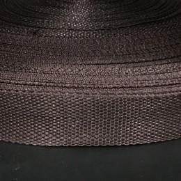 Тесьма-лента ременная 25мм коричневый (100 метров)