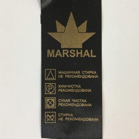 Этикетка накатанная 30мм (составник) Marshal атлас заказная (100 метров)