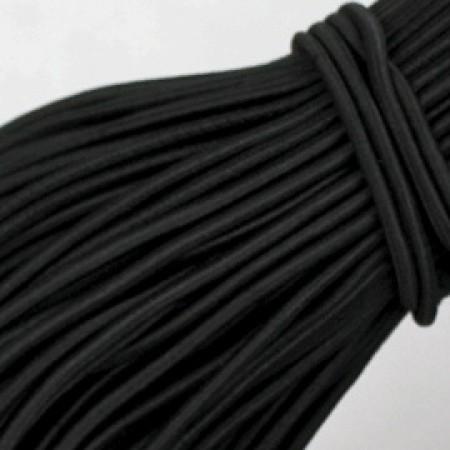 Резинка шнур 2,5мм Турция черная (80 метров)