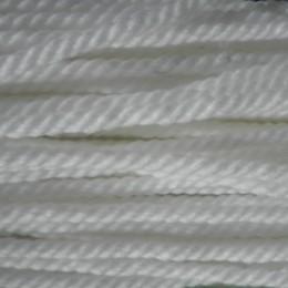 Шнур канат 8мм акриловый белый (50 метров)