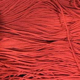 Шнур круглый 2мм красный (100 метров)