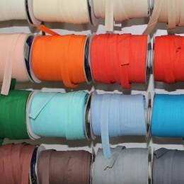 Бейка стрейчевая 20 мм цветная (50 ярдов)