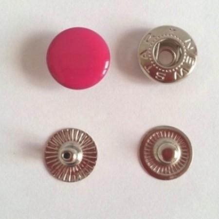Кнопка металлическая 12,5 мм эмаль малина №146 (720 штук)