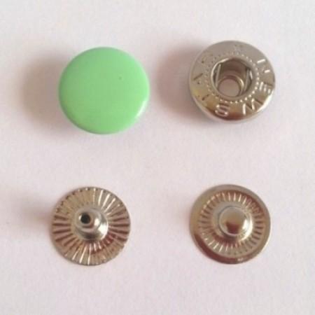 Кнопка металлическая 12,5 мм эмаль салатовый №246 (720 штук)