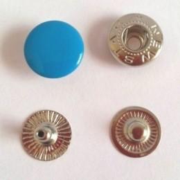 Кнопка металлическая 12,5 мм эмаль бирюза №274 (720 штук)