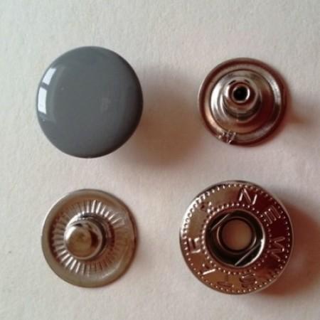 Кнопка металлическая 12,5 мм эмаль серый №523 (720 штук)