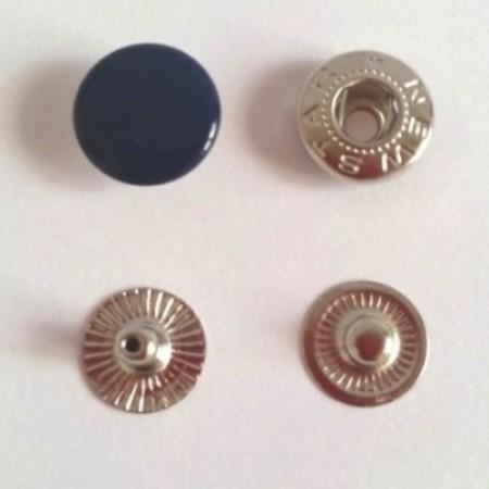 Кнопка металлическая 12,5 мм эмаль синий темный №569 (720 штук)