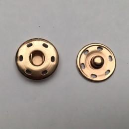 Кнопка металлическая пришивная 17мм золото (1000 штук)
