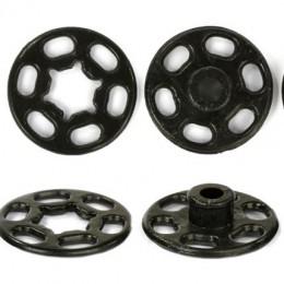 Кнопка пластиковая пришивная 15 мм черная (1000 штук)