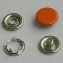 Кнопка трикотажная беби закрытая 9,5 мм турция оранжевый 158 (1440 штук)