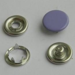 Кнопка трикотажная беби закрытая 9,5 мм турция сиреневый 166 (1440 штук)