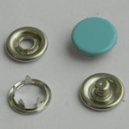 Кнопка трикотажная беби закрытая 9,5 мм турция голубой 198 (1440 штук)