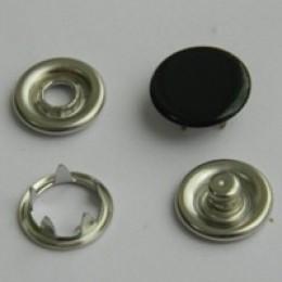 Кнопка трикотажная беби закрытая 9,5 мм турция черный 322 (1440 штук)