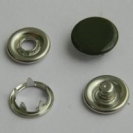 Кнопка трикотажная беби закрытая 9,5 мм турция хаки 327 (1440 штук)