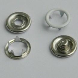 Кнопка трикотажная беби кольцо 9,5 мм турция белый 101 (1440 штук)