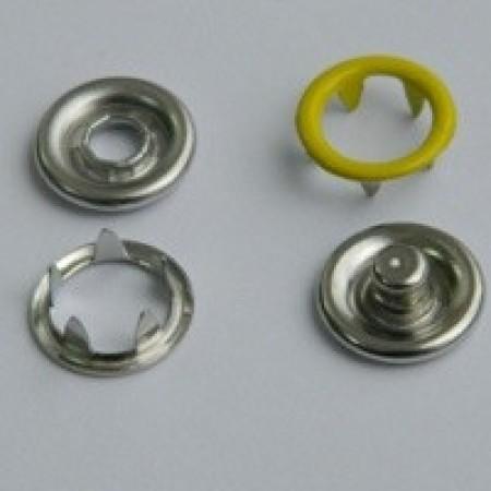 Кнопка трикотажная беби кольцо 9,5 мм турция желтый 110 (1440 штук)