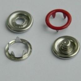 Кнопка трикотажная беби кольцо 9,5 мм турция красный 148 (1440 штук)
