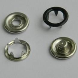 Кнопка трикотажная беби кольцо 9,5 мм турция черный 322 (1440 штук)