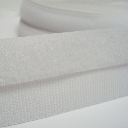 Липучка 30 мм белая (25 метров)