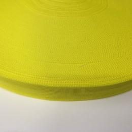 Тесьма окантовочная 23мм желтый лимон (100 метров)