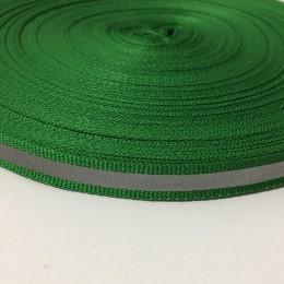 Тесьма светоотражающая 1см зеленый (50 метров)