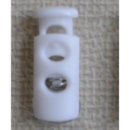Фиксатор пластик сопилка на 2 отверстия белый (1000 штук)