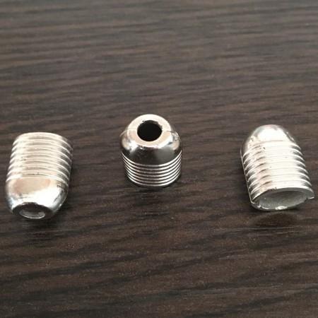 Наконечник для шнура под металл №А27 никель (1000 штук)