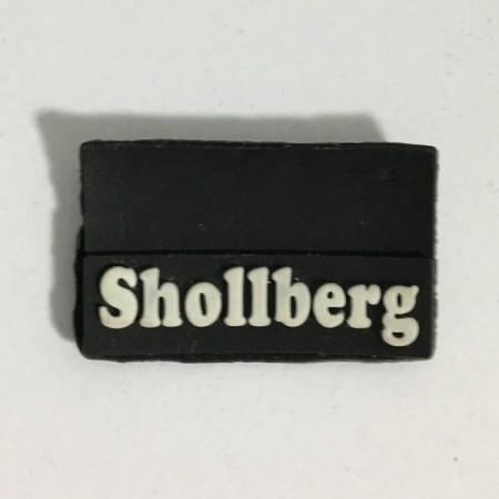 Этикетка силиконовая (изготовление) Shollberg черная 10мм х 30мм (Штука)
