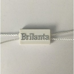 Крепеж пломба для этикеток 14ммх27мм Brilanta заказная (1000 штук)
