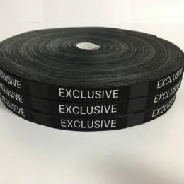 Этикетка жаккардовая вышитая Exclusive 10мм (100 метров)