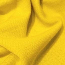 Ткань трикотаж французский желтый (метр )