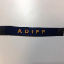 Этикетка жаккардовая вышитая Adiff 10мм заказная (100 метров)