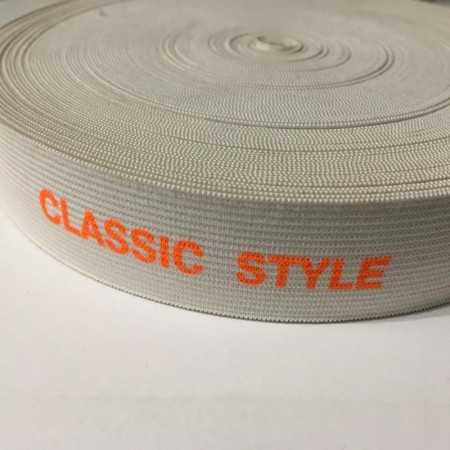 Резинка с логотипом накатка Classik Stylel 30мм  (метр )