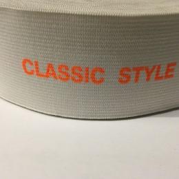 Резинка с логотипом накатка Classik Style 50мм (метр )