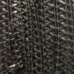 Тесьма декоративная лак XD-H-73 черный (25 ярдов)