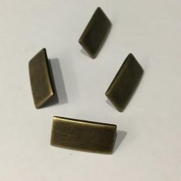 Кнопка металлическая 10х40мм планка антик (Штука)