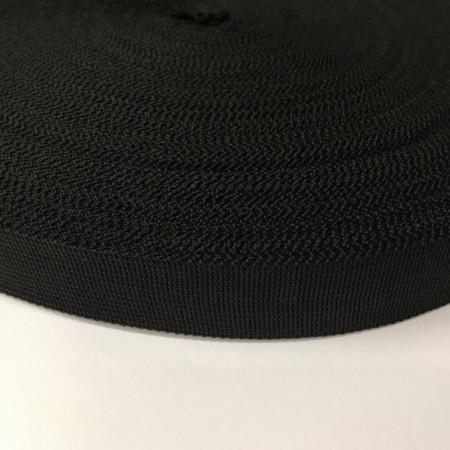 Тесьма окантовочная 18мм черная (50 метров)