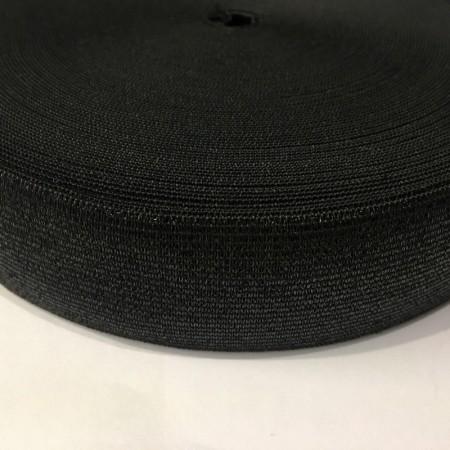 Резинка 40мм черная люрекс (25 метров)