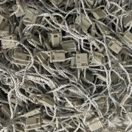 Крепеж-пломба для этикеток шнур серый (1000 штук)