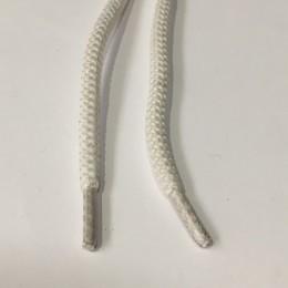 Шнурок куруглый 6мм шх 0,8м  белый (пара)