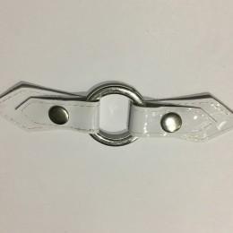 Украшение лак белый кольцо никель15х3,5см (Штука)