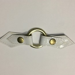 Украшение лак белый кольцо золото15х3,5см (Штука)