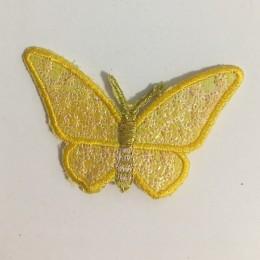 Вышивка апликация бабочка 7х5см желтый (Штука)