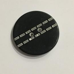 Пуговица пришивная 3575 черная белая строчка 28 (18мм) (Штука)