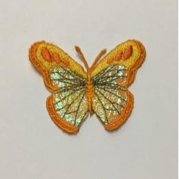 Вышивка апликация бабочка 6х5см оранжевый (Штука)